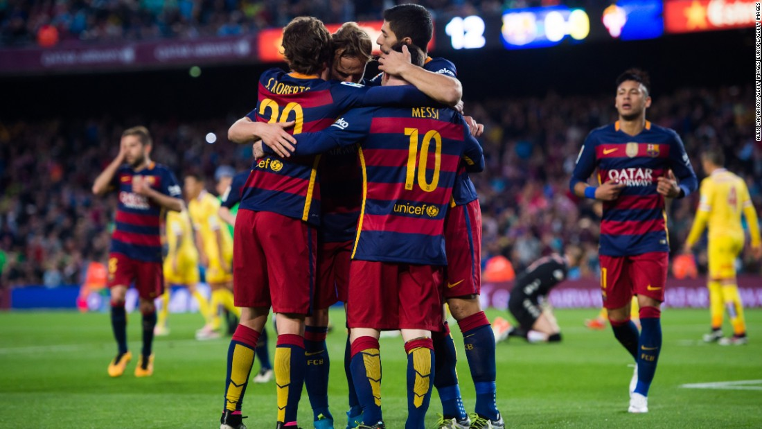 The victory ensures Barcelona remains top of La Liga despite wins for title rivals Atletico Madrid and Real Madrid earlier Saturday.