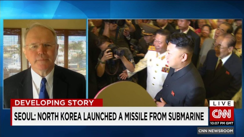 North Korea launched missile from submarine