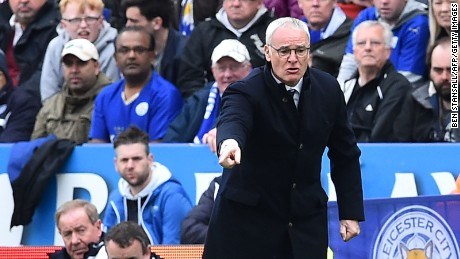 Leicester City's manager Claudio Ranieri gestures from the touchline during his side's comfortable win at the King Power Stadium.