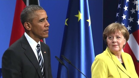 Obama: Merkel on the 'right side of history'