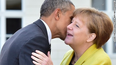 1 day, 2 presidents: Merkel meets with Obama, then Trump