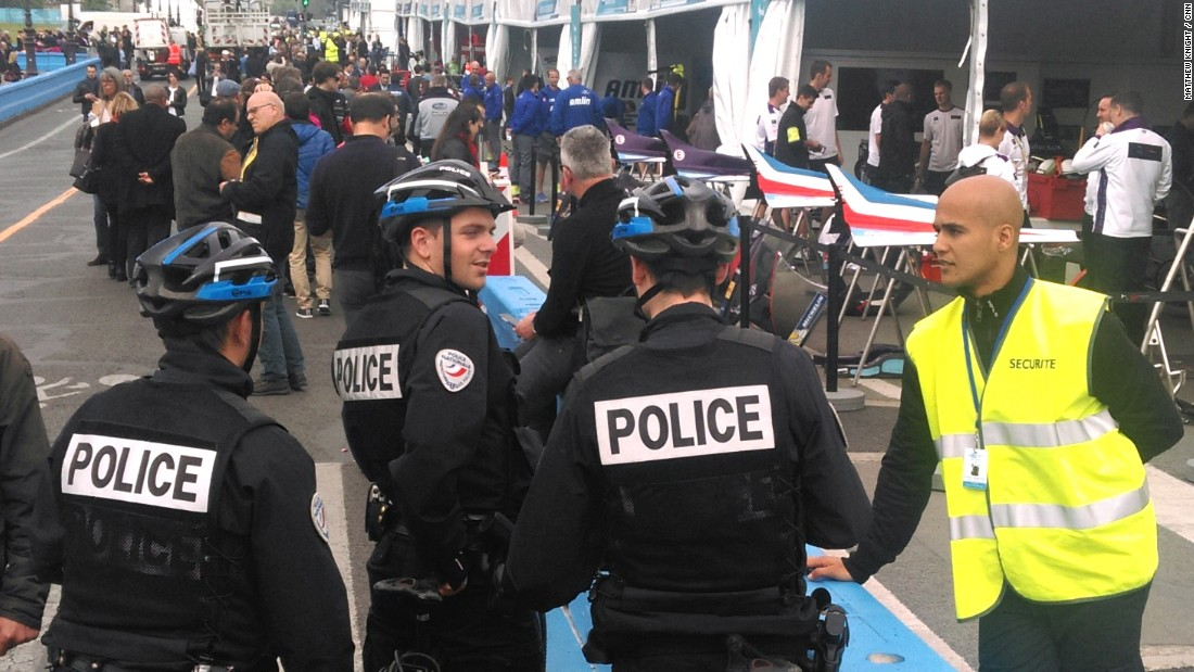"There was ""a high-level security presence"" at the Paris ePrix. The French capital was the target of terror attacks last November and remains on high alert."