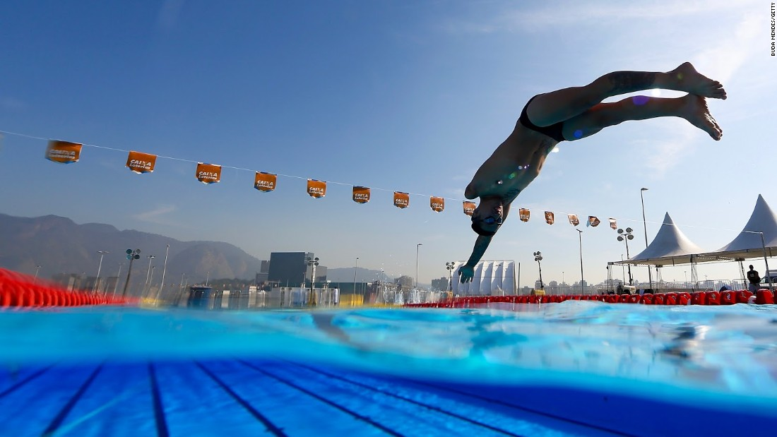 Mexican Paralympic swimmer Luis Armando Andrade Guillen at a Rio test event last week. There are 133 days until the Rio Paralympics begin.