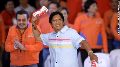 "Senator and vice presidential candidate Ferdinand ""Bongbong"" Marcos Jr."
