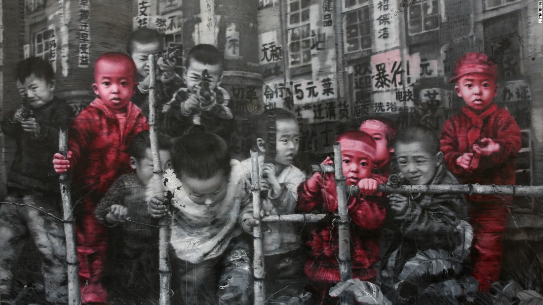 Li Tianbing, a critically-acclaimed Chinese painter based in Los Angeles, has also reflected on his lonely childhood in recent years. His paintings show himself along with a number of imaginary brothers.