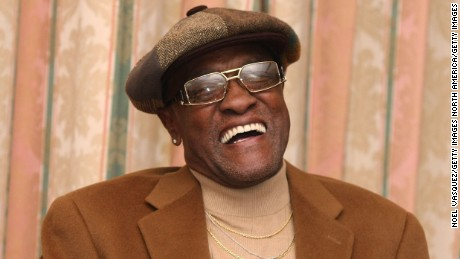 Billy Paul speaks at the Pre-Grammy Party at the Four Seasons Hotel in Beverly Hills, California in 2008.