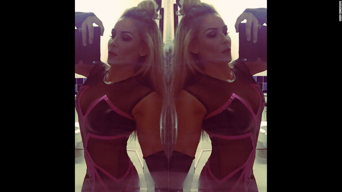 "WWE superstar Natalya snaps a selfie in the mirror on Thursday, April 7. ""See you later,"" <a href=""https://www.instagram.com/p/BD6mqcYS1H3/"" target=""_blank"">she said on Instagram.</a>"