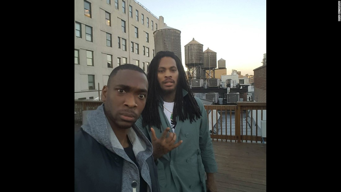 "Comedian Jay Pharoah, left, <a href=""https://www.instagram.com/p/BEoW7Piw9XM/"" target=""_blank"">gets a selfie with rapper Waka Flocka Flame</a> on Monday, April 25."