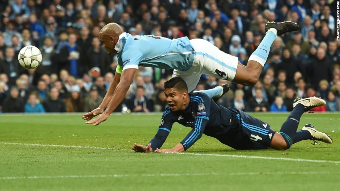 Manchester City captain Vincent Kompany tried to force the issue but to no avail. City lost David Silva to injury before the break as the first half ended goalless.