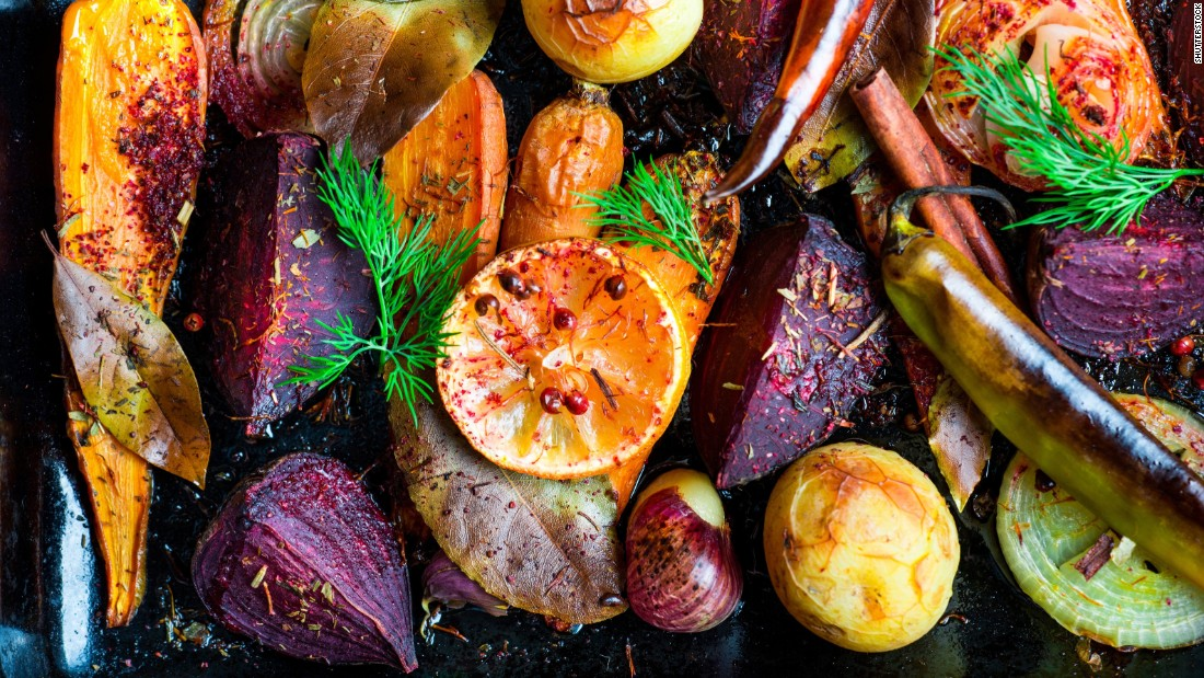 Roasting and baking is another healthy way to fix your vegetables. Again, adding some healthy fat such as olive oil is a great idea, Magee said, as many of the vitamins and nutrients in vegetables are fat soluble, meaning your body absorbs them better in the presence of fat.