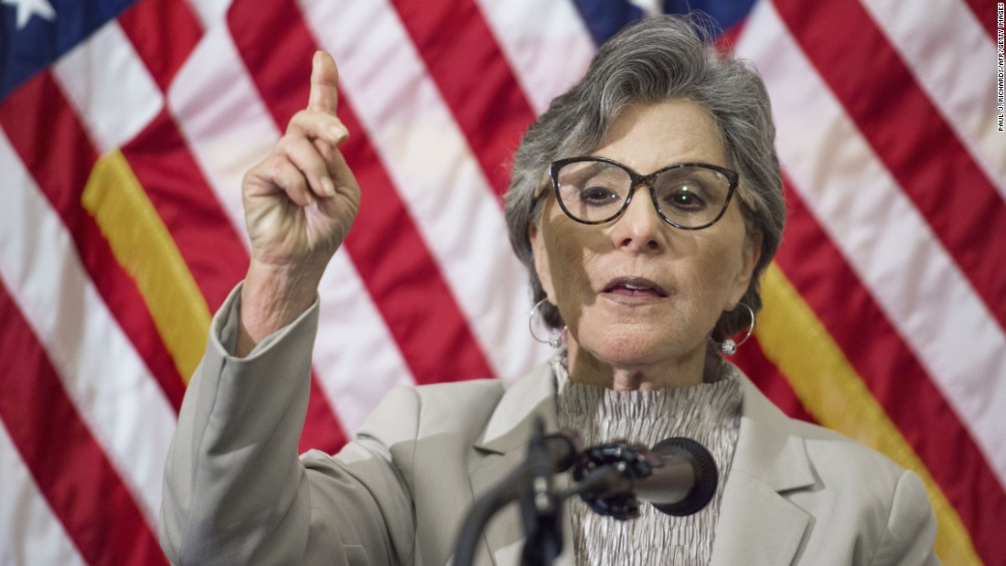 California Sen. Barbara Boxer