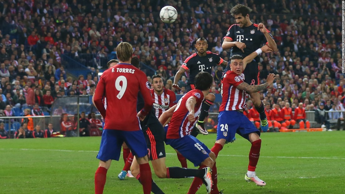 Javi Martinez wasted a glorious effort to equalized for the visitor when he sent his header straight at Oblak from 10-yards. It means Bayern will now need to overturn a 1-0 deficit in the second leg in Munich on Tuesday if it is to progress to the final.