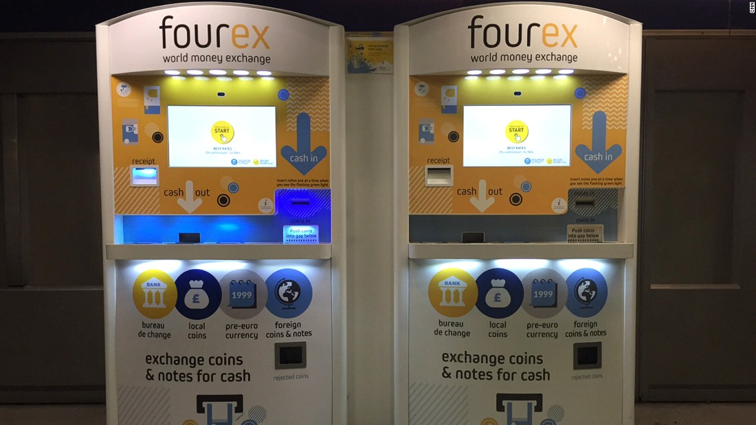 "These machines exchange coins and notes of currencies from around the world, saving globetrotters time and money. South African duo Jeff Paterson and Oliver du Toit's idea for <a href=""http://www.fourex.co.uk/"" target=""_blank"">Fourex</a>  took off in 2015 when it won Richard Branson's entrepreneurship competition Pitch to Rich."