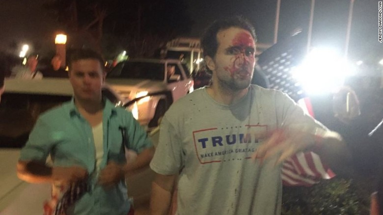 Violent protests erupt at Trump rally
