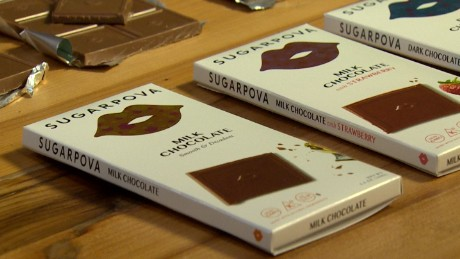 Sugarpova chocolate bars will cost between $4.99 and $5.99 each.
