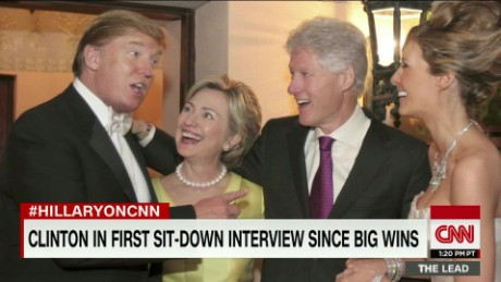 hillary clinton donald trump wedding running for president lead intv_00002528