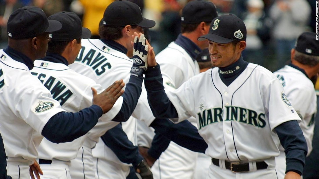 <strong>Seattle Mariners 2001 MLB Playoffs</strong>: Seattle Mariners won a record 116 games behind  Ichiro Suzuki's remarkable rookie season (right), but lost in the playoffs against the Yankees and have struggled to stay relevant ever since.