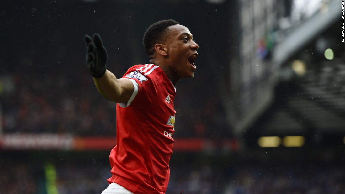 But Leicester had a rocky start to the game after Anthony Martial scored in the eighth minute to give United the lead.