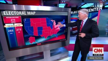 Trump Vs Clinton The Math The Map CNN Video - Cnn us election map