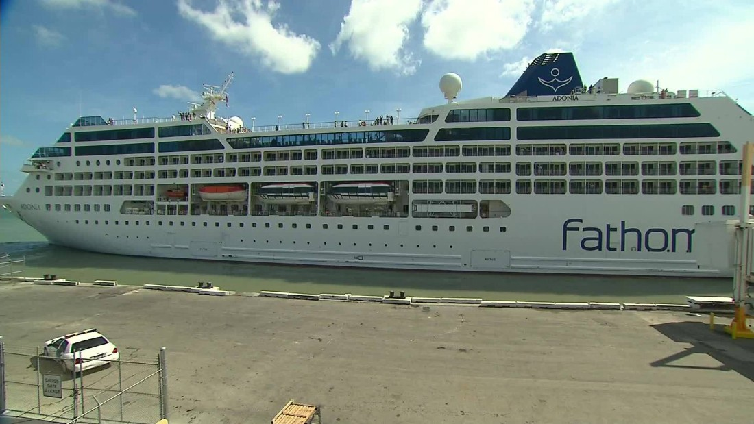 U.S. cruise sets sail for Cuba; first voyage in decades draws protests