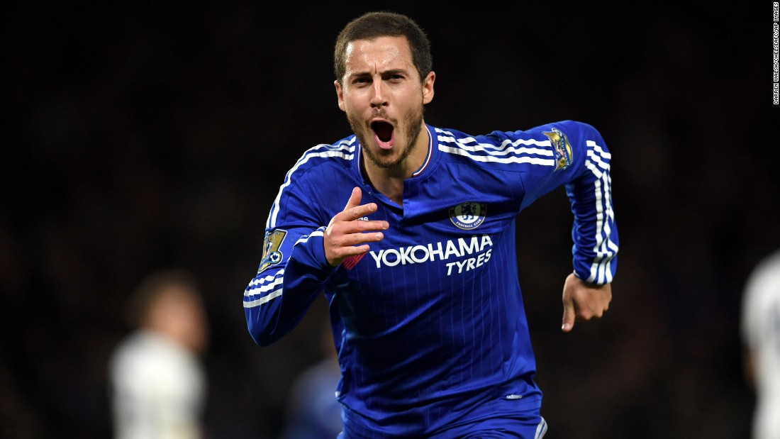 Chelsea's Eden Hazard scored the goal that tied the match at 2-2 late in the second half. Hazard was last year's Premier League Player of the Season, and Chelsea was last season's champions.