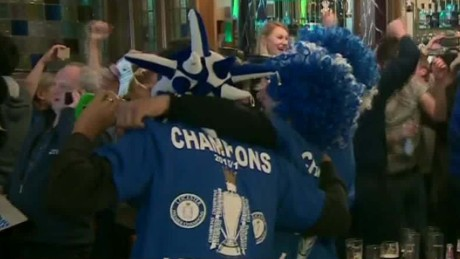 Leicester fans celebrate first Premier League title