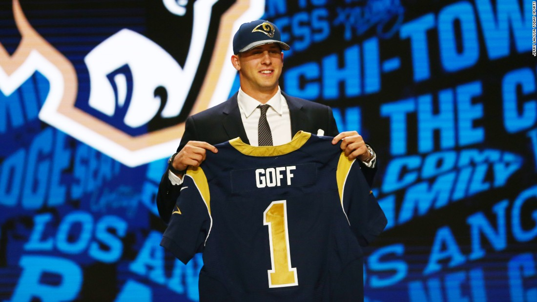 The Los Angeles Rams made California quarterback Jared Goff the first overall pick of the NFL Draft on Thursday, April 28. The Rams moved from St. Louis in the offseason and will be playing in Los Angeles for the first time since 1994.