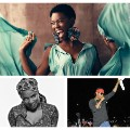 African musician collage