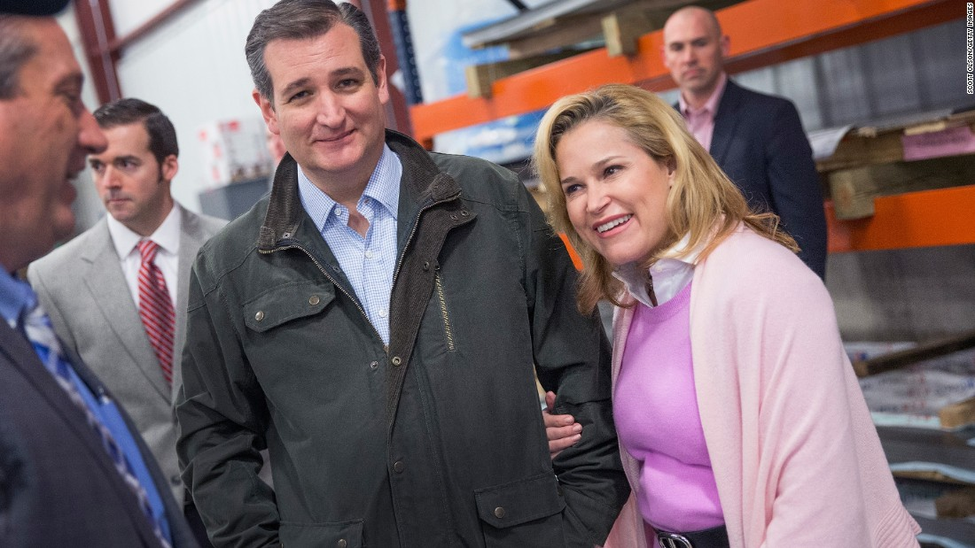 With his wife by his side, Cruz tours the Dane Manufacturing facility before speaking to workers in Dane, Wisconsin, on Thursday, March 24.