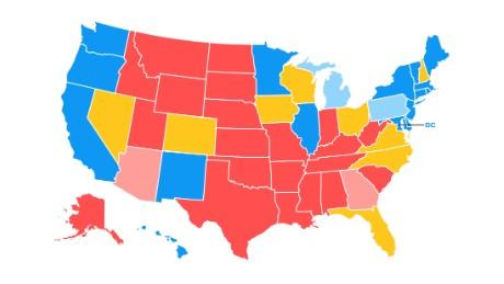 Road To CNNs General Election Map CNNPolitics - Cnn us election map