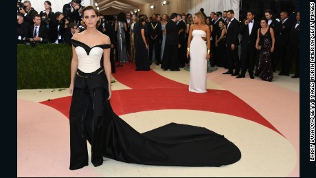 "NEW YORK, NY - MAY 02:  Actress Emma Watson attends the ""Manus x Machina: Fashion In An Age Of Technology"" Costume Institute Gala at Metropolitan Museum of Art on May 2, 2016 in New York City.  (Photo by Larry Busacca/Getty Images)"