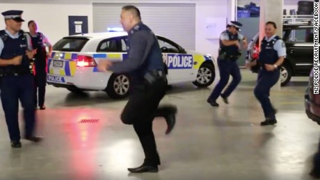The officers throw down the gauntlet to other police around the world.