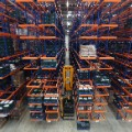 warehouse lift and shelves
