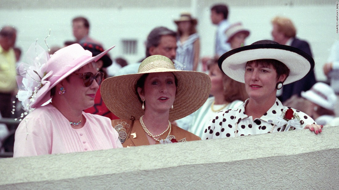 """In the 1990s, the dress at the Derby continued to replace the suit, especially with younger women,"" added the Derby website.<br />""While gloves have become out of fashion, a hat never is, and the hats tend to get wilder and more expensive as the years go on.""<br />"