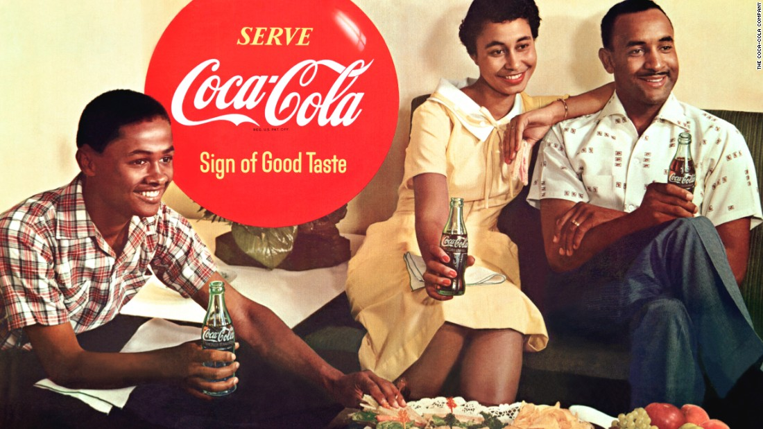 <strong>1957:</strong> Mary Alexander was the first African-American woman to appear in Coca-Cola advertising. She appeared in about 15 Coca-Cola print ads throughout the 1950s.