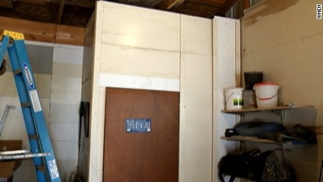 Family says hidden closet found behind this wall in barn
