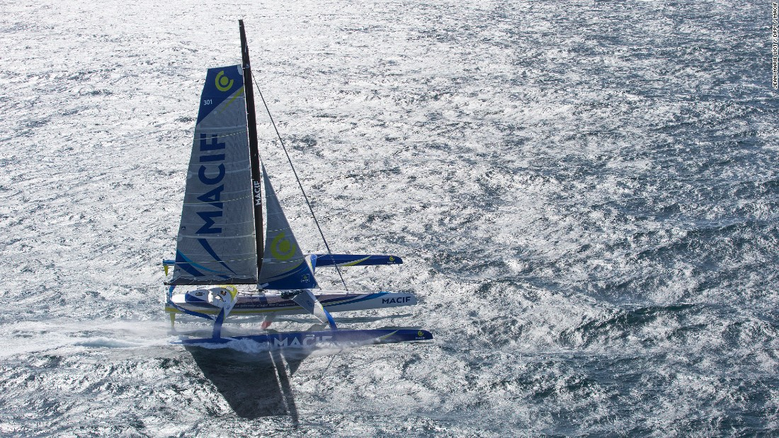 The MACIF trimaran, designed by naval firm Van Peteghem Lauriot-Prévost, was built with one goal in mind: to break world records.