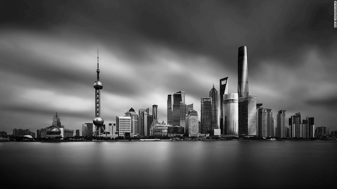 'Dark deco' photos morph Shanghai into Gotham