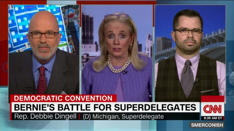 Superdelegates from Sanders states voting for Clinton