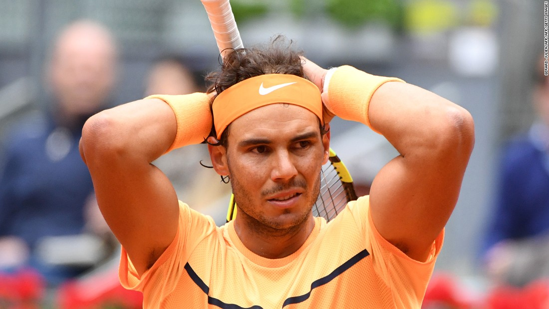 The result means Nadal's 13 match winning streak on clay comes to an end.