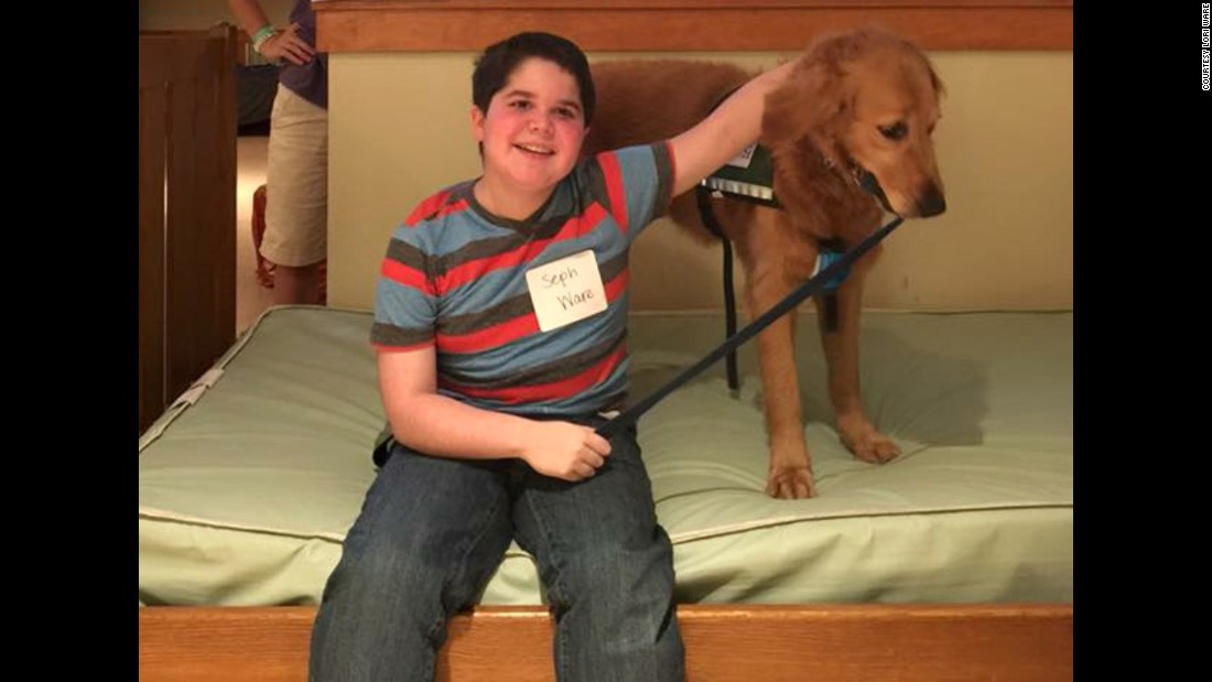 The best buddies went to Camp Aldersgate in Little Rock, Arkansas, three summers ago. It's a camp for children with medical conditions.