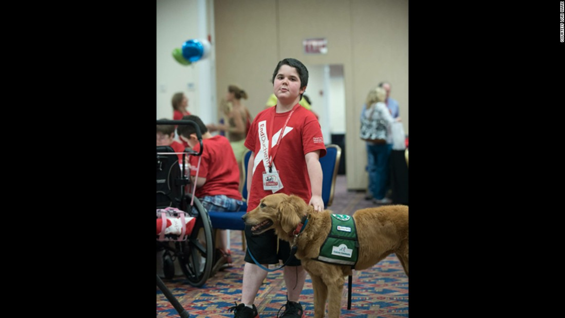 Presley and Seph attended the Parent Project Muscular Dystrophy conference last year.
