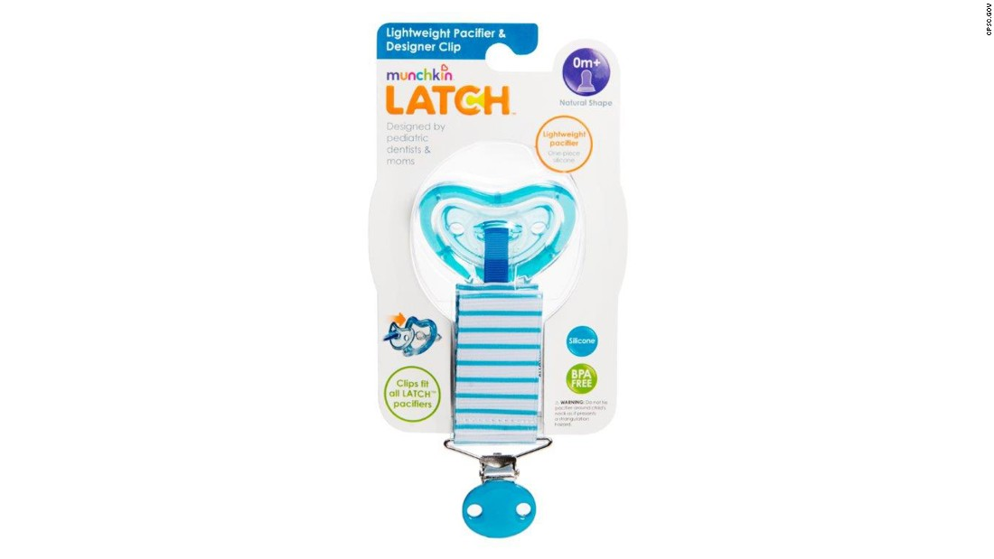 Munchkin is recalling about 180,000 of its LatchTM lightweight pacifiers.