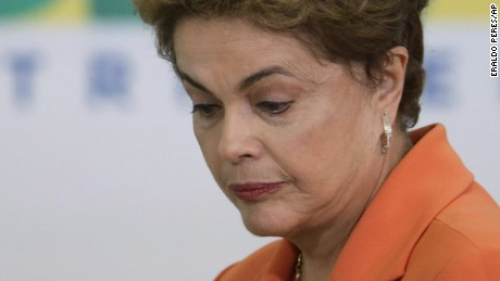 Brazil's President Dilma Rousseff arrives for a ceremony in Planalto presidential palace to launch an agricultural plan that allocates billions of dollars to farmers in Braslia, Brazil, Wednesday, May 4, 2016. Brazils attorney general has asked the countrys highest court to authorize an investigation into embattled Rousseff over obstruction of justice allegations, according to major Brazilian news organizations. (AP Photo/Eraldo Peres)
