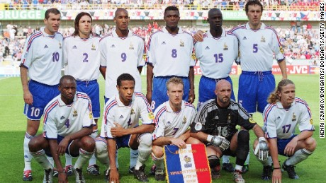 France - Euro 2000, featuring number 8, Desailly.
