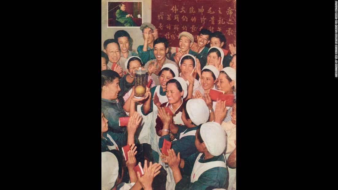 "Mao's golden mangoes: The mango became an unlikely object of worship during the turmoil of the <a href=""http://cnn.com/2016/05/12/asia/china-cultural-revolution-dikotter/index.html"">Cultural Revolution</a>, which began 50 years ago this month.  The exotic fruit adorned propaganda posters and everyday objects."