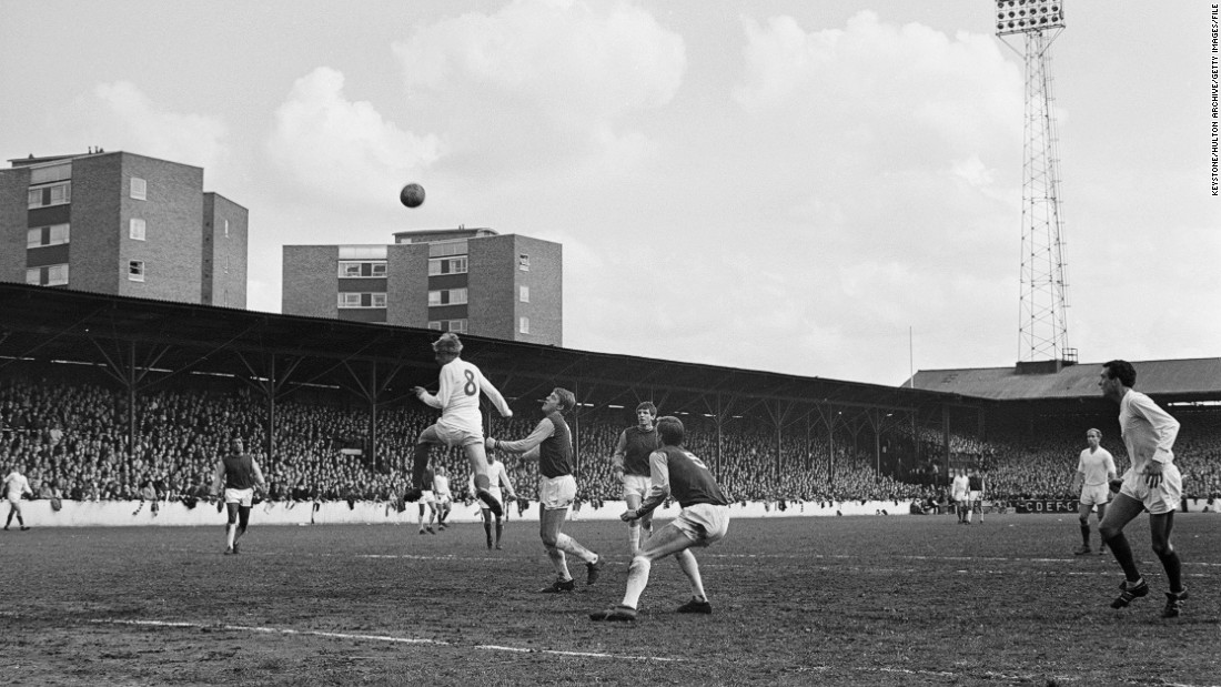 In May 1967, Manchester United beat West Ham 6-1 at Upton Park to become English champion for the seventh time.