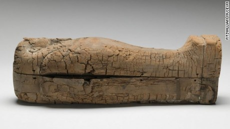 The  immaculate wooden coffin, which holds the youngest  Egyptian mummy, dates to around 664-525 BC.