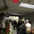 Dallas Ft. Worth airport security line