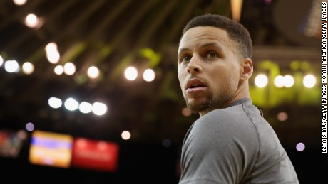 OAKLAND, CA - MAY 11:  Stephen Curry #30 of the Golden State Warriors stands on the court before their game against the Portland Trail Blazers in Game Five of the Western Conference Semifinals during the 2016 NBA Playoffs on May 11, 2016 at Oracle Arena in Oakland, California.  NOTE TO USER: User expressly acknowledges and agrees that, by downloading and or using this photograph, User is consenting to the terms and conditions of the Getty Images License Agreement.  (Photo by Ezra Shaw/Getty Images)